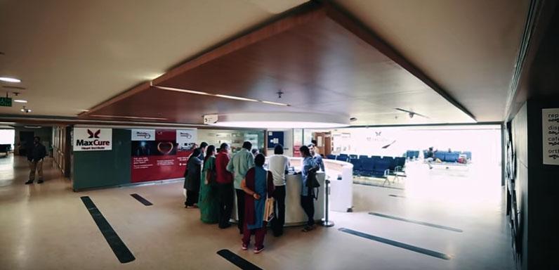 MaxCure Hospital - inside Hyderabad