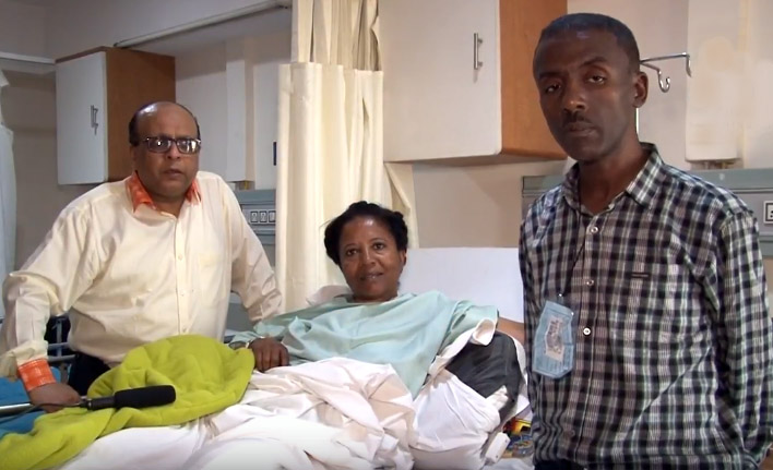 Dr Raju Vaishya with Ethiopia Patient