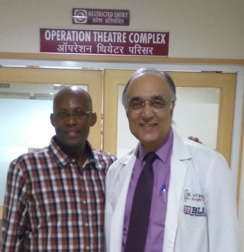 Dr. V.P. Bhalla (Gastrointestinal Surgery) With Kenya Patient in BLK Hospital Delhi, India