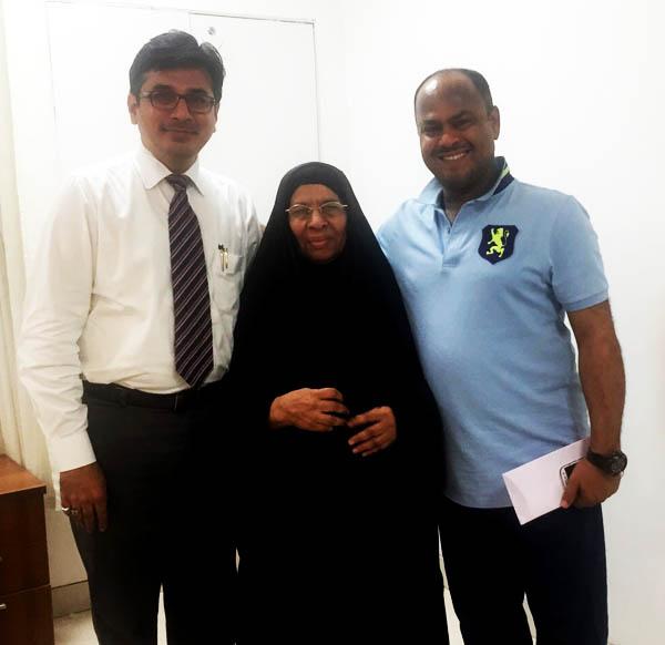 Dr. Jignesh Gandhi with Oman Patient in India