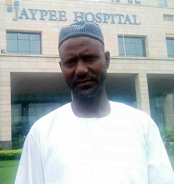 Patient from Sudan in Jaypee Hospital, Noida